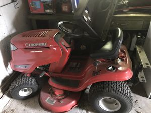 Garaged Troy Built Riding Lawn Mower with Bagger for Sale in Framingham, MA