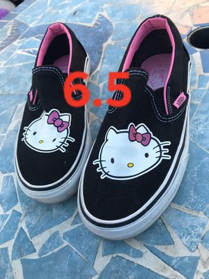 vans shoes hello kitty FIRM PRICE NO DELIVERY CASH OR TRADE FOR BABY FORMULA for Sale in Los Angeles, CA