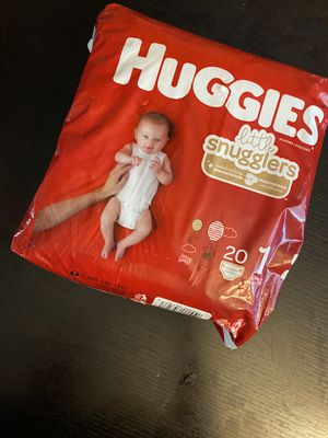 Huggies size 1 20 count for Sale in Hialeah, FL