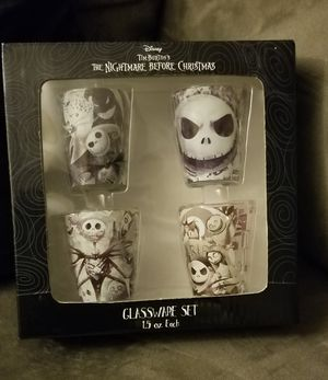 Disney The Nightmare Before Christmas Halloween Mini Shot Glasses Set of 4 for Sale in Tacoma, WA