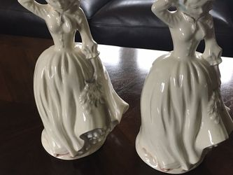 Pair of vintage Victorian woman figurine lamp bases for Sale in Aston,  PA