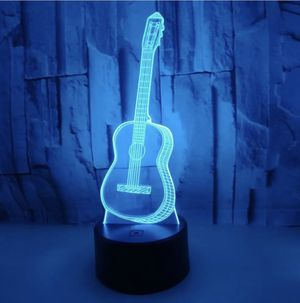 """Rare acoustic Guitar 9"""" 3D LED Desk Lamp-night Light for Sale in Struthers, OH"""