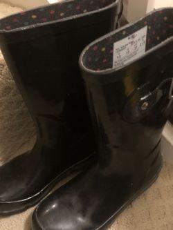 Big Girl Black Rain Boots (size 13) for Sale in Washington,  DC