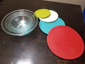 Pyrex glass mixing bowls 8 piece for Sale in Plano, TX