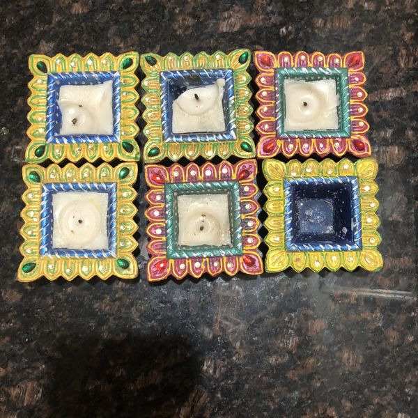 Indian/ Pakistani henna mehndi trays with candles