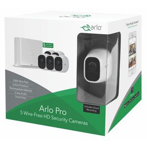 Arlo Pro 720P HD Security Camera System VMS4530 - 5 Wire-Free Rechargeable Cameras with Two-Way Audio, Indoor/Outdoor, Night Vision, Motion Detection for Sale in Huntington Beach, CA