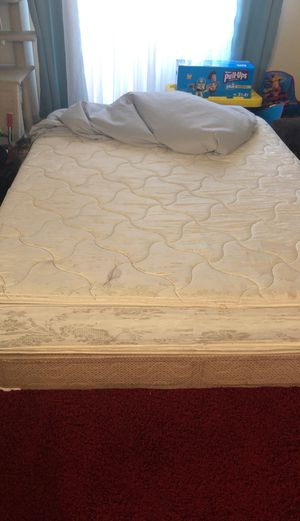 FREE.....Queen size bed with box spring used.... PICK UP ONLY!!! for Sale in Victorville, CA