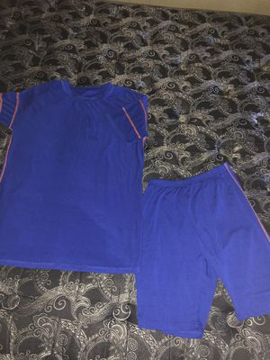 Royal Blue Biker Short Set for Sale in US