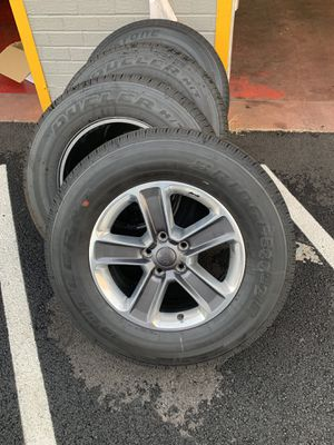 "Jeep Wrangler Sahara Wheels and Tires - 18"" - New! 255/70R18 for Sale in West McLean, VA"