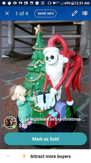 New Nightmare before christmas figurine for Sale in Tullahoma, TN