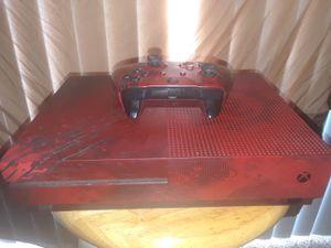 XBOX ONE S*** 🔌NEW Console Plus Wireless Control, & Cord & Custom Red Color w/ Skull Design~ for Sale in Pasadena, CA
