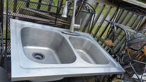 Deep stainless sink with gooseneck faucet for Sale in Jonesborough, TN