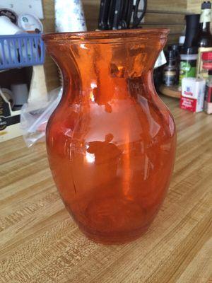 Orange Vase for Sale in Poway, CA