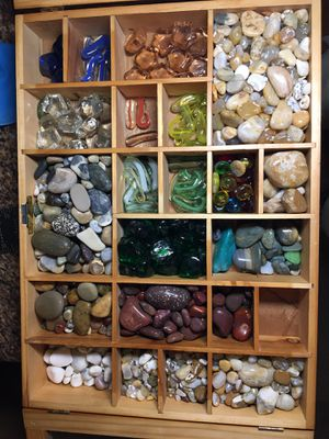 Polished Rock and glass pieces collection for Sale in Portland, OR