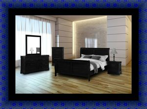11pc black bedroom set for Sale in Washington, DC