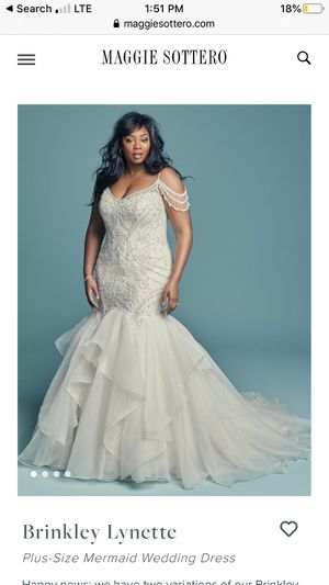 Brinkley Lynette Plus-Size Mermaid Wedding Dress for Sale in Fort Washington, MD
