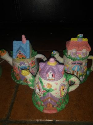 Three Easter Village decor items for Sale in Hawthorne, CA