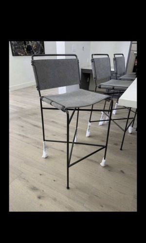 Pottery Barn Perkins Bar Height Stool, Grey (5) for Sale in HUNTINGTN BCH, CA