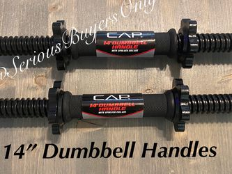 "CAP 14"" Adjustable Dumbbell Weight Handles Spin Lock for Sale in Fontana,  CA"