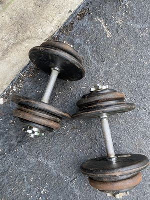 Adjustable 1 inch dumbbells 45lbs each one for Sale in Davie, FL