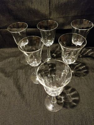 "Lenox""Allure"" Optic Crystal Wine Goblets for Sale in Portland, OR"
