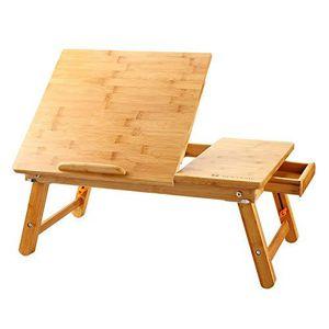Laptop Desk Nnewvante Table Adjustable 100% Bamboo Foldable Breakfast Serving... for Sale in Nashville, TN