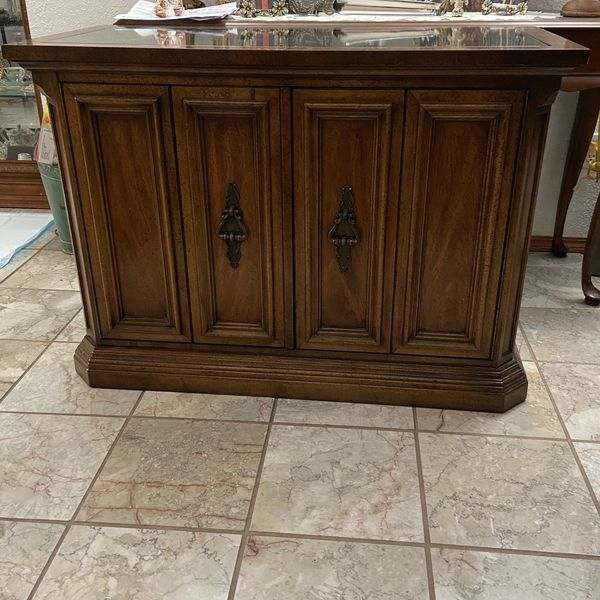 Vintage Quality Heavy Wood Buffet Cabinet
