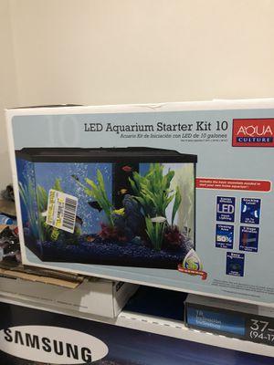 Led aquarium starter kit 10 gallons for Sale in Gainesville, VA
