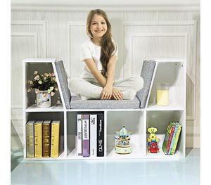 6-Cubby Kid Storage Bookcase Cushioned Reading Nook - for Sale in Covina, CA