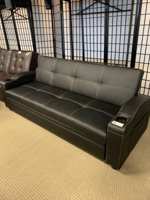 Brand New Futon Sofa Bed with Cup Holders $449. SAME DAY DELIVERY. for Sale in Houston, TX