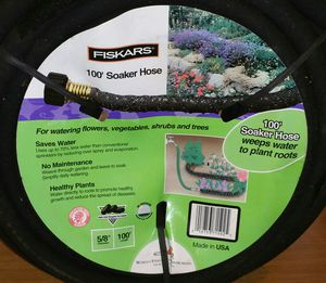 """NEW Fiskers 5/8"""" x 100 feet Soaker Hose for Sale in Federal Way, WA"""