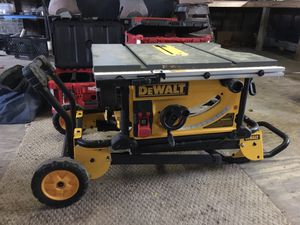 Dewalt table saw. Used once for Sale in Austin, TX