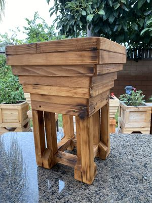 Wooden plant pots for Sale in Cypress, CA