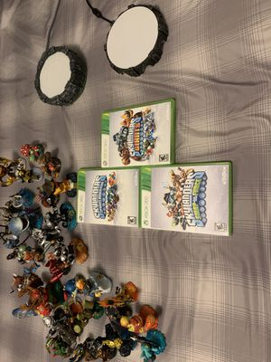 Skylander set (Xbox 360) with games and portals for Sale in New Athens, IL