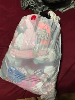 Bag of baby girl clothes new born to 3-6 for Sale in Henderson, TX