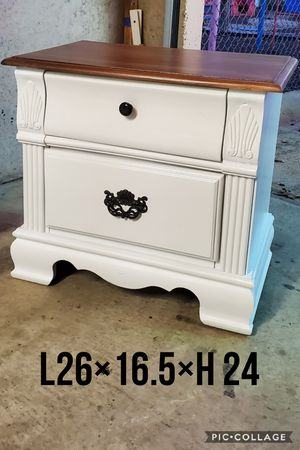 1 night stand side table refinished white for Sale in Cedar Hill, TX