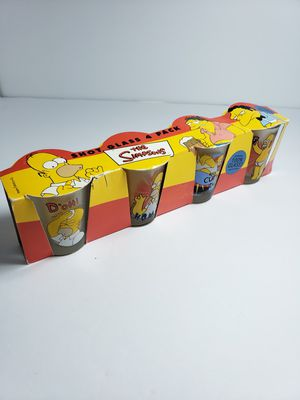 The Simpson's 4 pack shot glasses (Matt Groening) 1999 for Sale in Downey, CA
