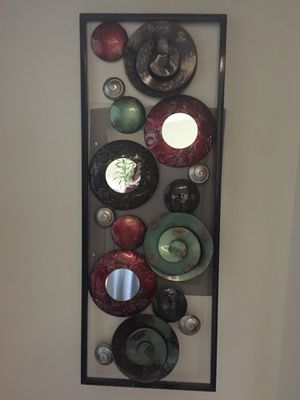 Wall iron frame with mirror for Sale in West Palm Beach, FL