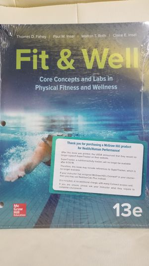 Fit & Well 13 edition by McGraw Hill Education for Sale in Hollywood, FL