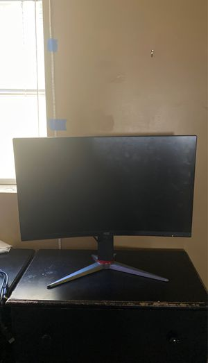 """AOC 144 hz gaming monitor 1ms response time adjustable curved 27"""" for Sale in Columbus, OH"""