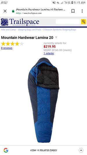 Mountain Hardware Lamina 20 Sleeping Bag for Sale in Gresham, OR