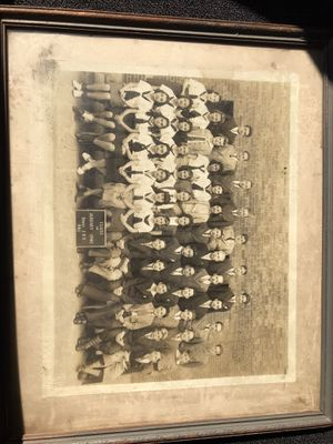 Old photo 1940 class picture with frame for Sale in Los Angeles, CA