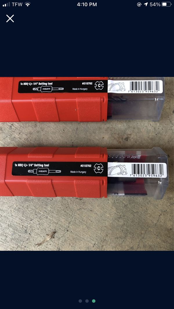 HILTI 1/4inch set tool and 3/8 drill bit SDS combo