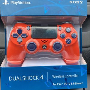 Orange and Blue Playstation 4 Wireless DualShock 4 Controller for Sale in Hoffman Estates, IL