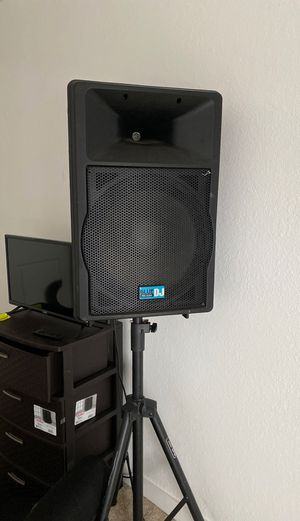 Blue pro audio dj speaker with all cords for Sale in San Diego, CA