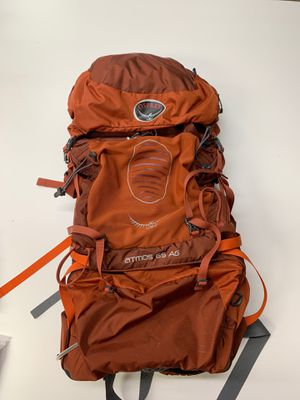 Osprey Atmos 65 AG Cinnabar Red Medium Men Women Unisex Backpacking Hiking Camping for Sale in Lake Forest, CA
