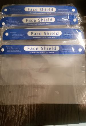Face shield $3 each ( only 4 available) for Sale in Ontario, CA
