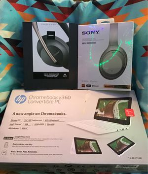 BUNDLE - ALL BRAND NEW IN SEALED BOXES - BOSE 700 WIRELESS NOISE CANCELLING BLUETOOTH HEADPHONES + CHARGING CASE - SILVER SONY MH 1000X M3 WIRELESS N for Sale in Santa Monica, CA