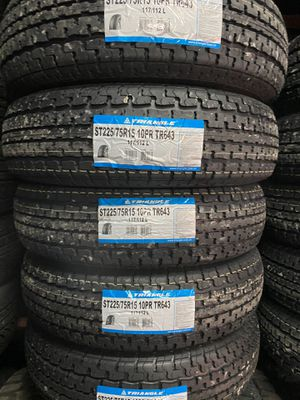 ST225/75/15 TRAILER TIRES 10ply LOAD E 80PSI for Sale in Arlington, TX