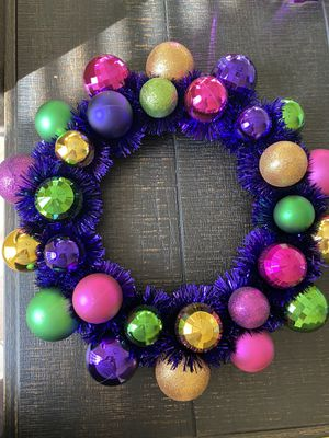 Mardi Gras wreath for Sale in Sulphur, LA